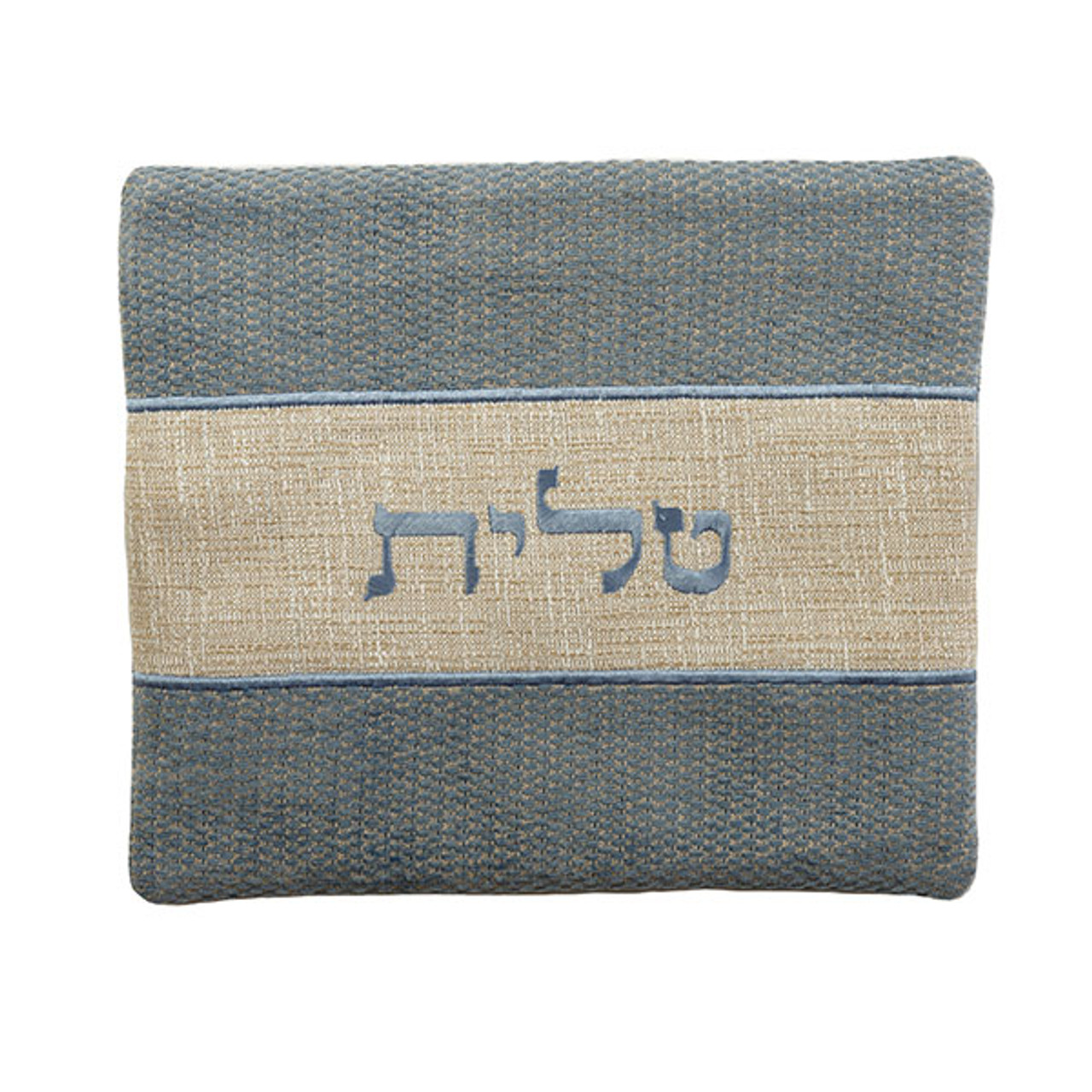 Morning Blue Linen Tallit Bag