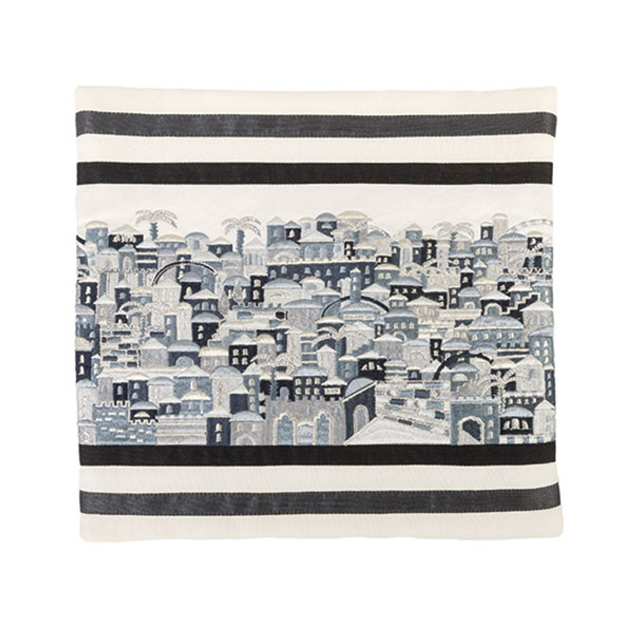 Raw Silk Jerusalem in Gray/Silver Tallit Bag