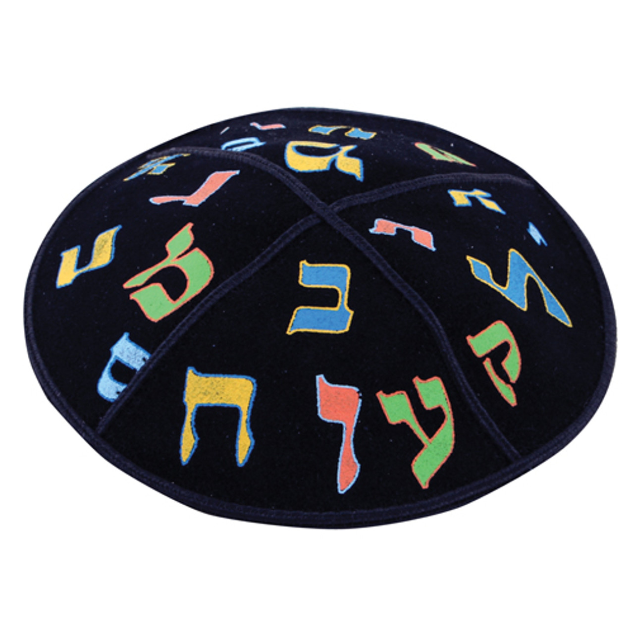 Leather Aleph-Beit Kippah