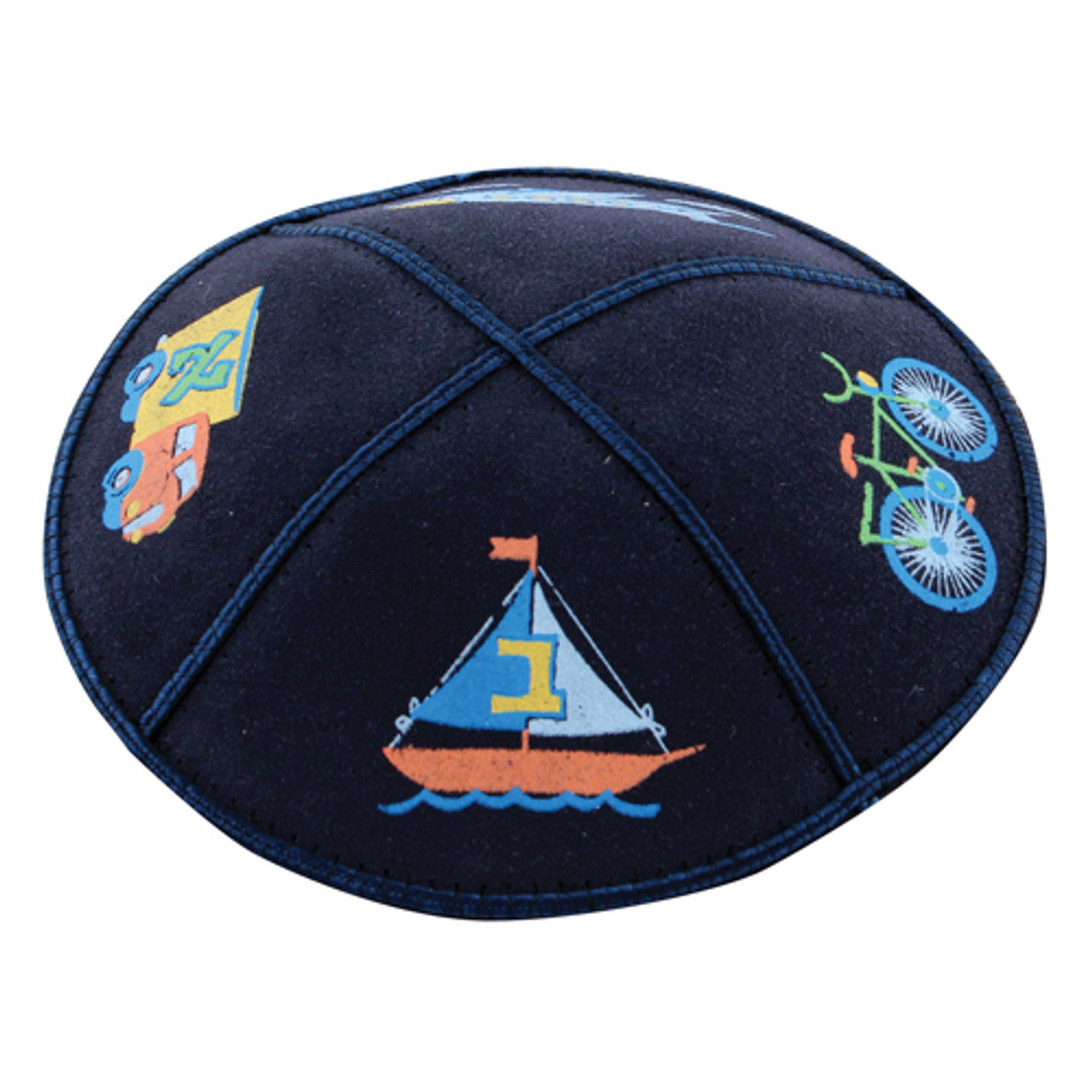 Leather Bike-Plane Kippah