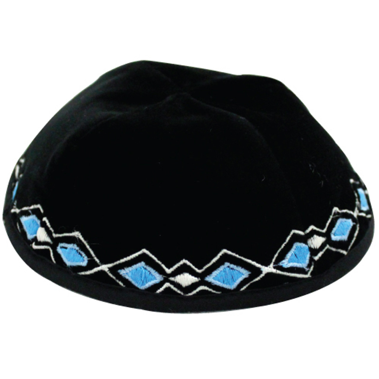 Boys Blue Diamonds Kippah