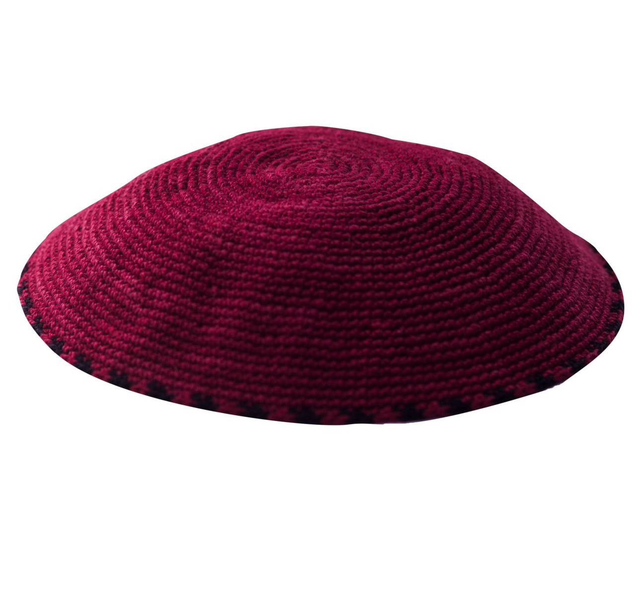 Burgundy DMC Knitted Kippah
