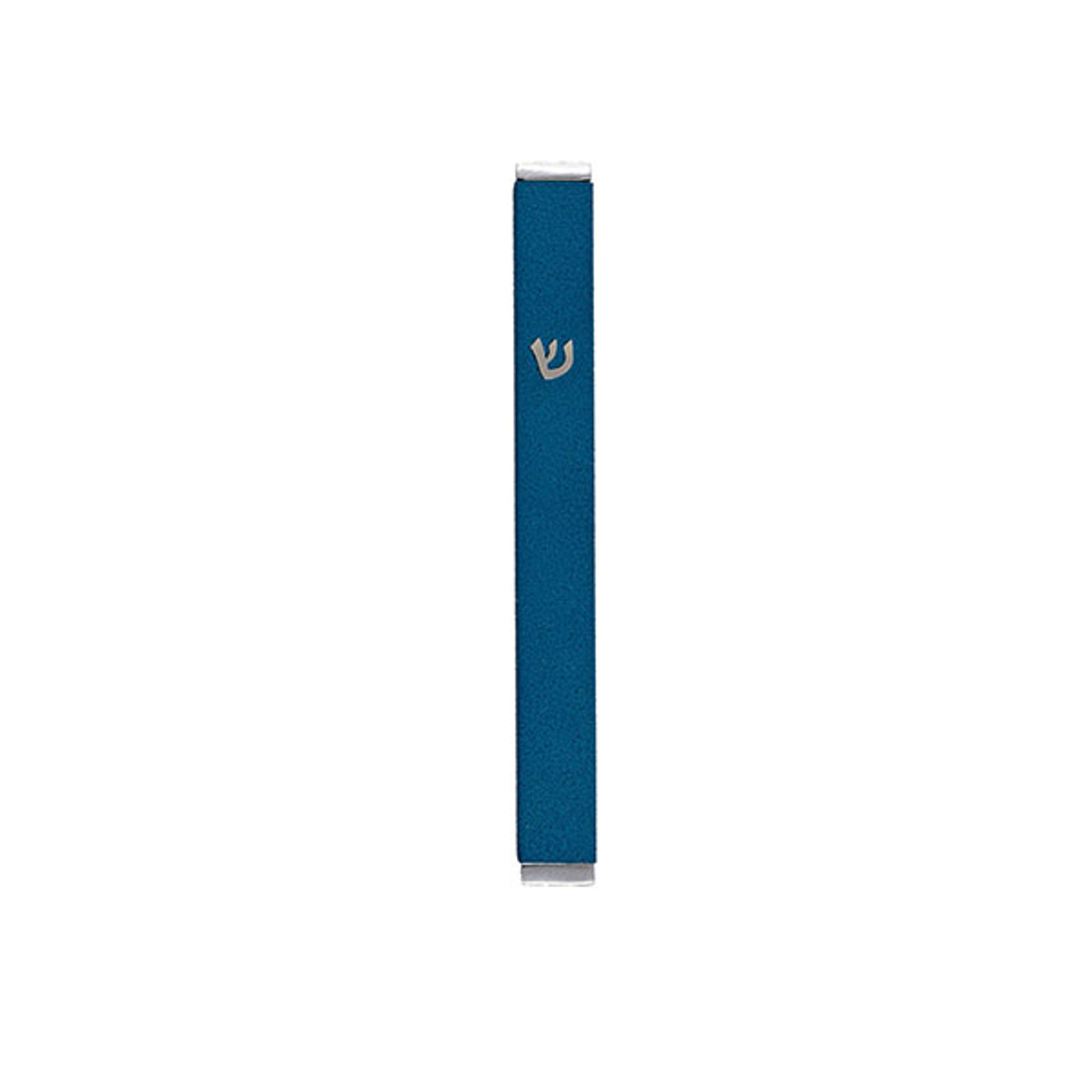 Metallic Blue Stainless Steel Mezuzah