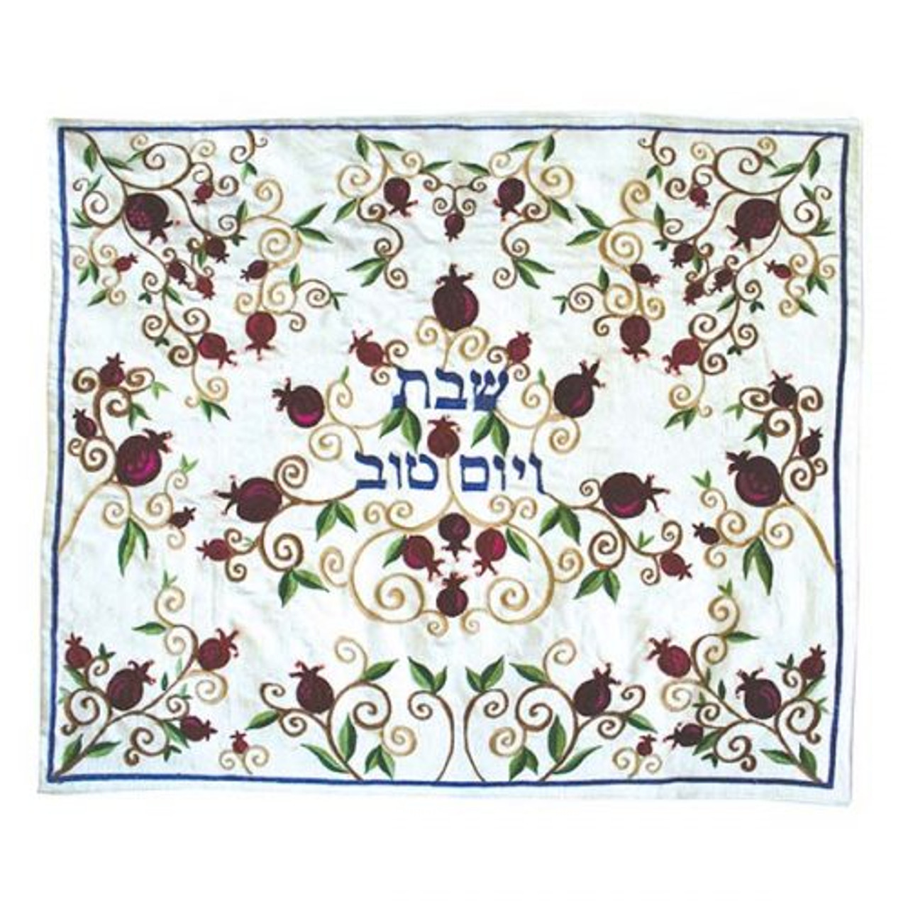 Burgundy & Bronze Pomegranate Vines Challah Cover