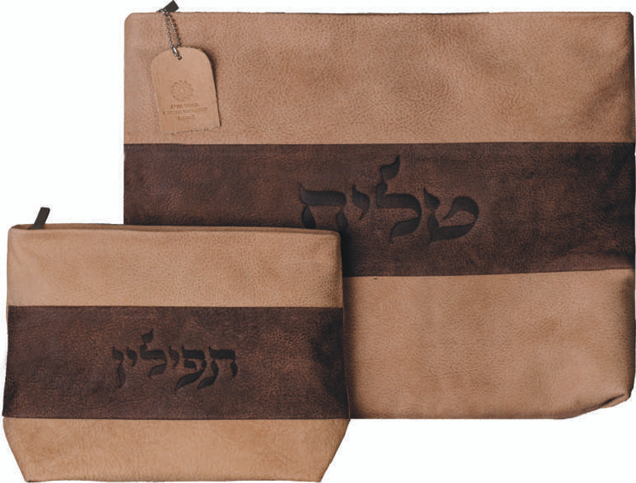 Two-Tone Leather Tallit Bag