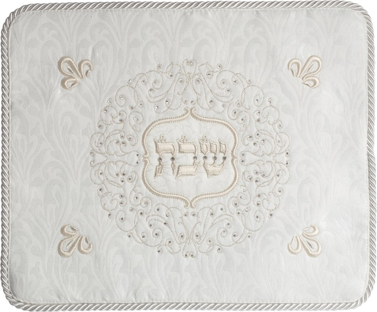 "Sequined ""Shabbos"" Challah Cover"