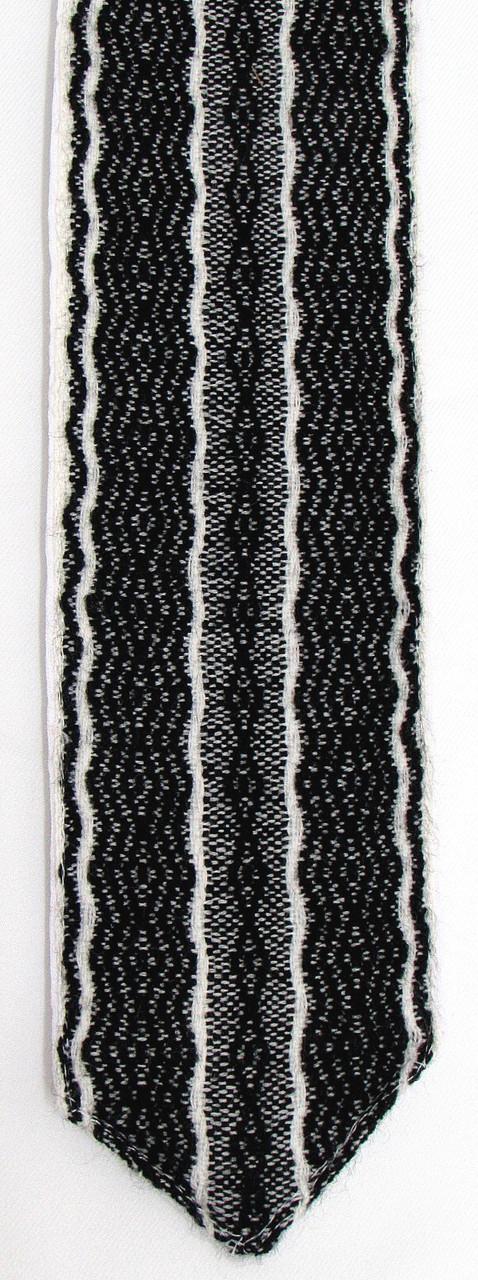Wool Black and White Handwoven Atara