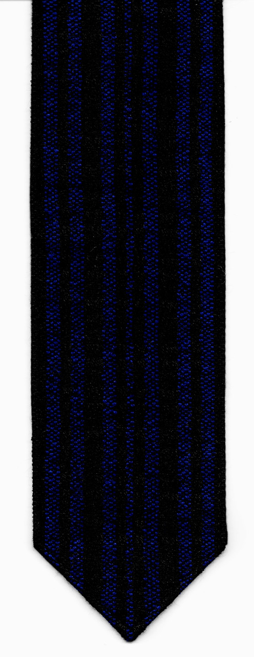 Wool Black and Royal Blue Handwoven Atara