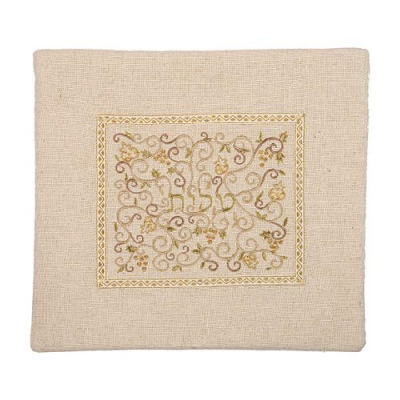 Gold and Ecru Linen Tallit Bag