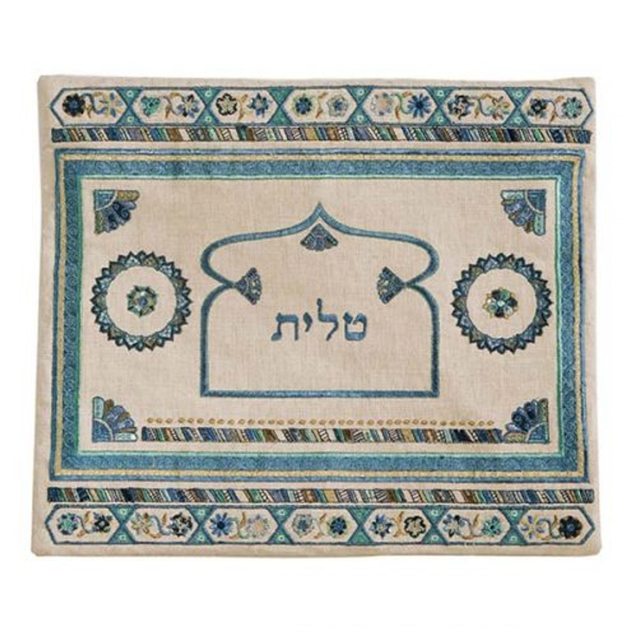 Oriental Design Teal Tallit Bag