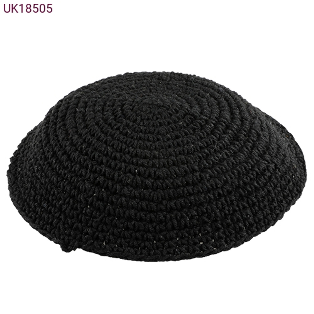 Large Black Knitted Kippah