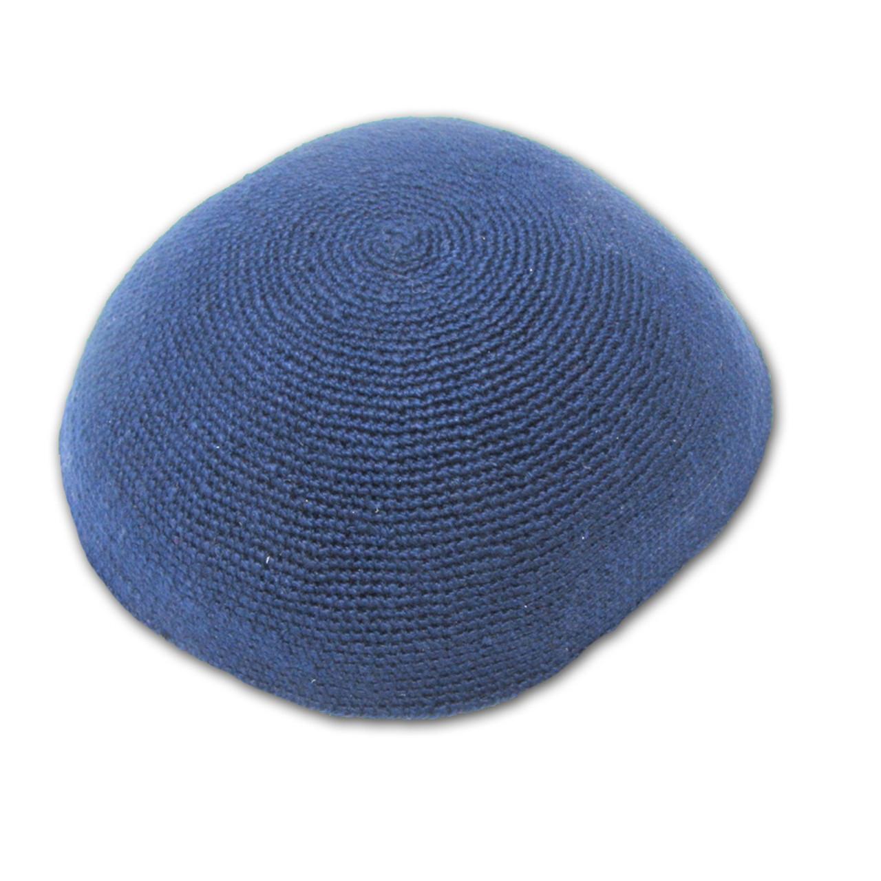 Royal Blue DMC Knitted Kippah