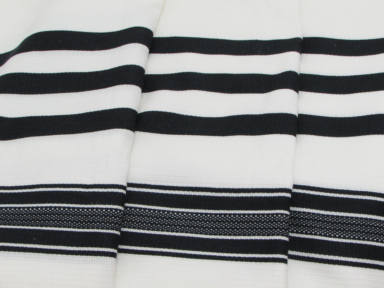 Black-Striped Traditional Cotton Tallit