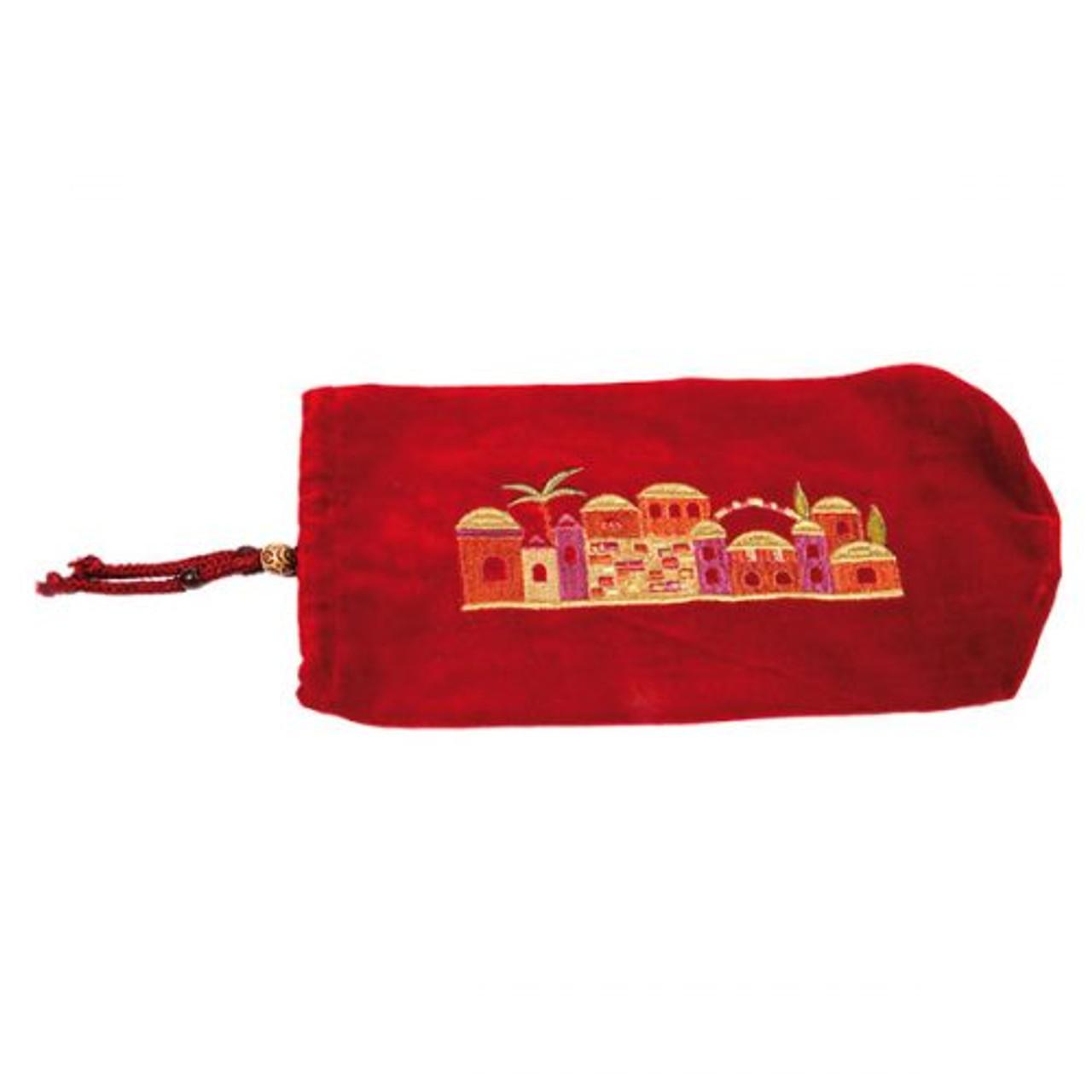 Maroon & Gold Ram's Horn Shofar Bag
