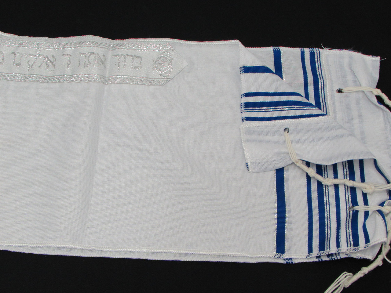 Size 8 Acrylic Blue-Silver Children's Tallit