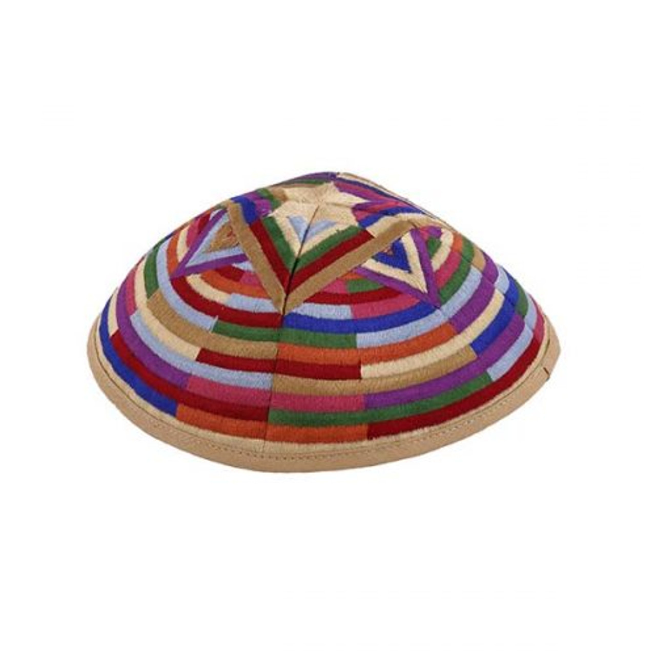 Contemporary Magen David Medley Embroidered Kippah