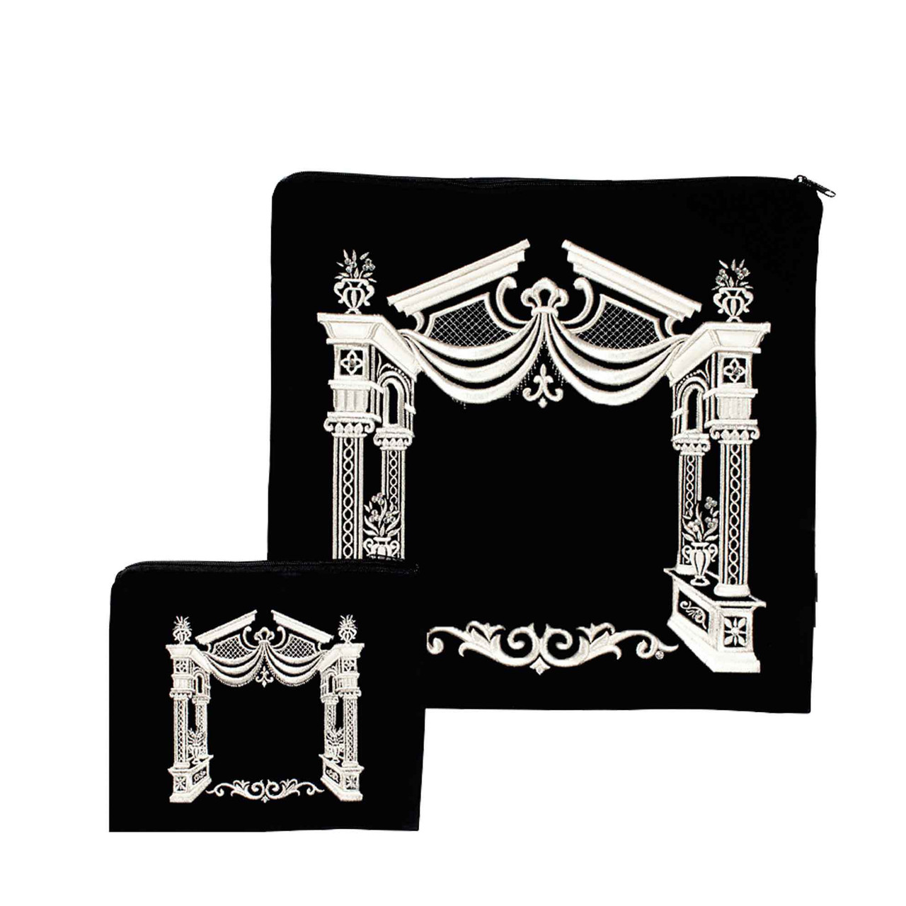 Vilna Gate with Flower Holders Tallit Bag