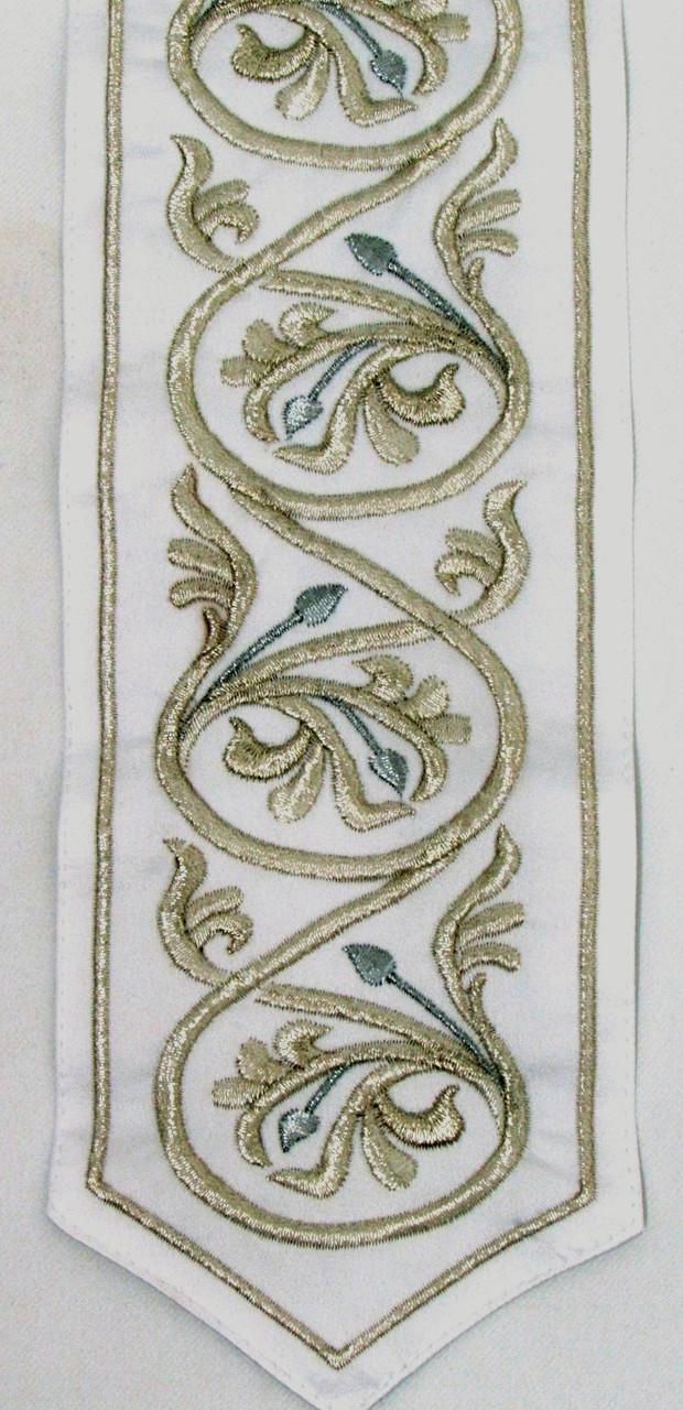 Two-Tone Silver Vine Pattern Atara
