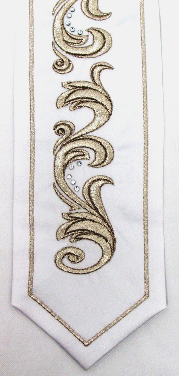 Silver Embroidered Yahalom Atara