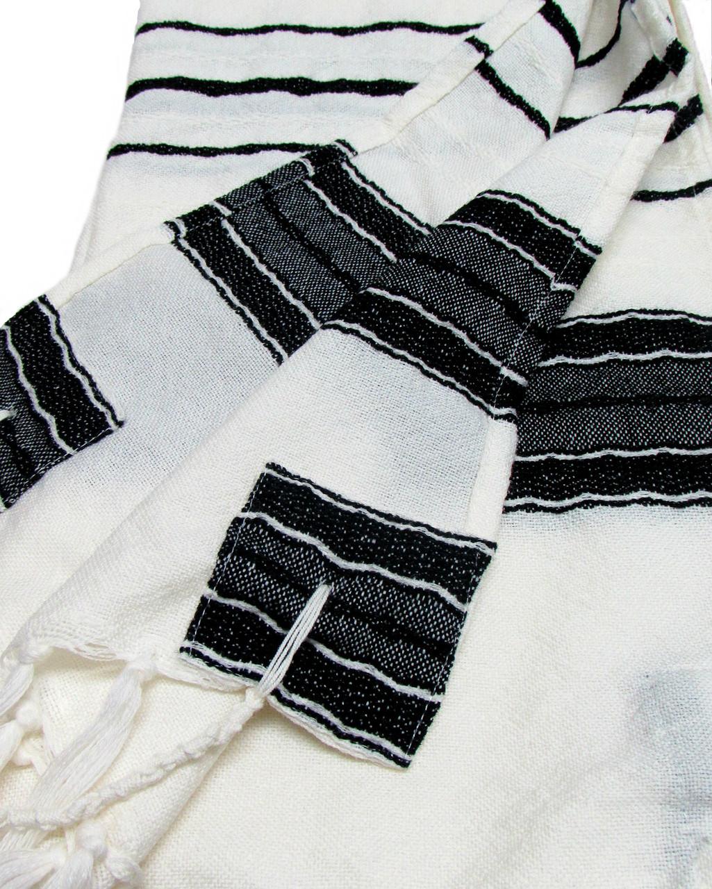 Handwoven Black-Striped Gabrieli Tallit