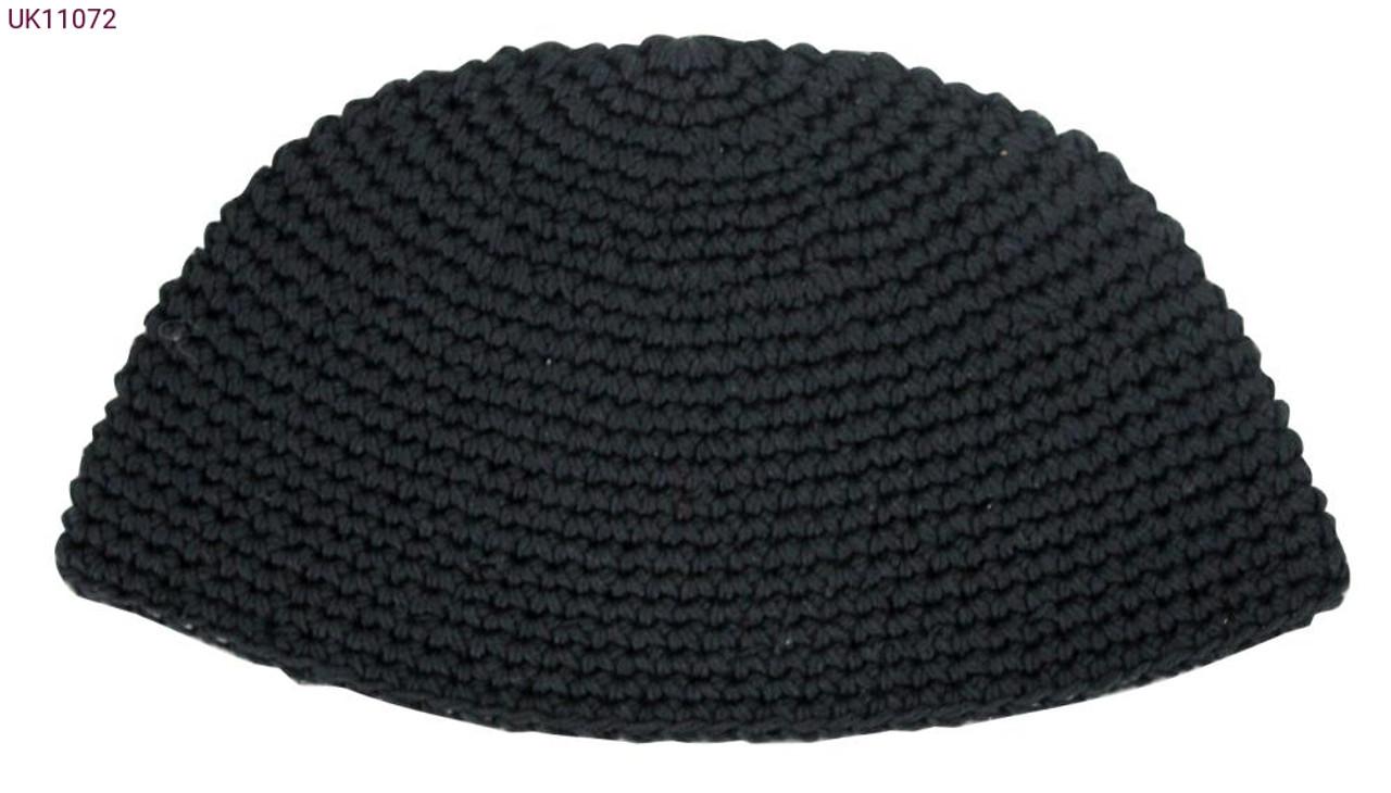 Extra Large Black Knitted Kippah
