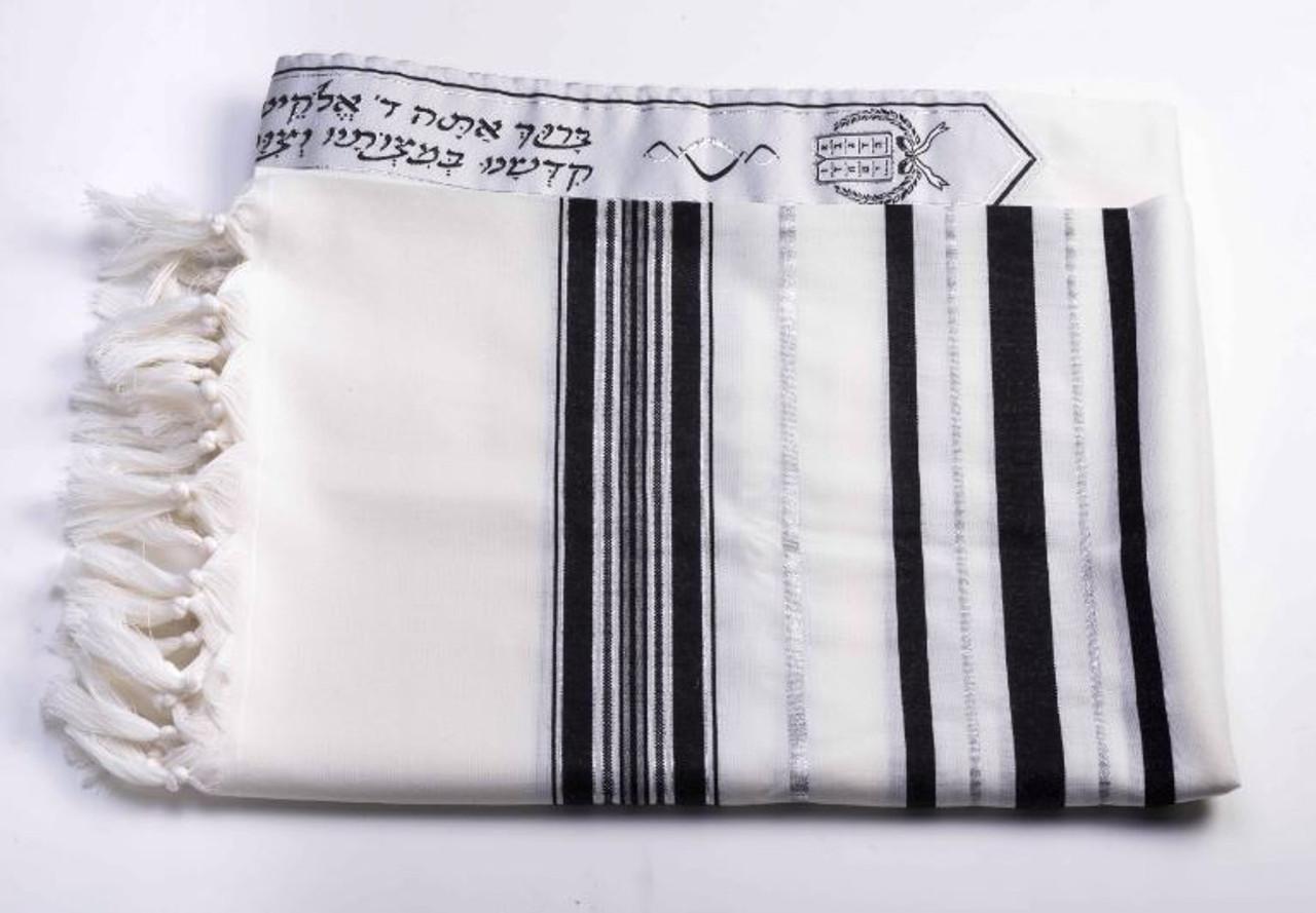 Wool A.A. Black/Silver 66 inch