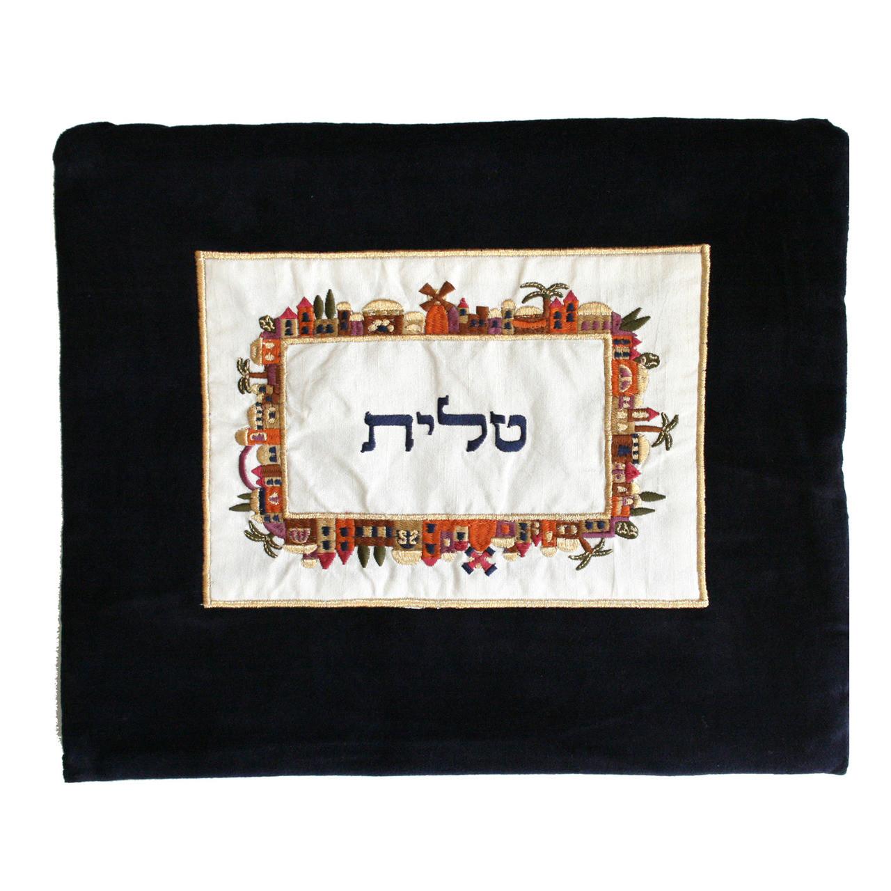 Velvet Jerusalem Roundabout Tallit Bag