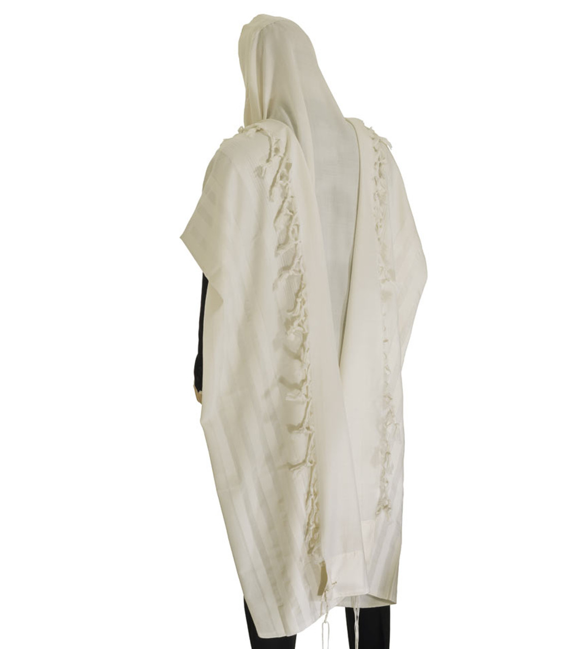 Malchut Nonslip Tallit with Doubled Fringes