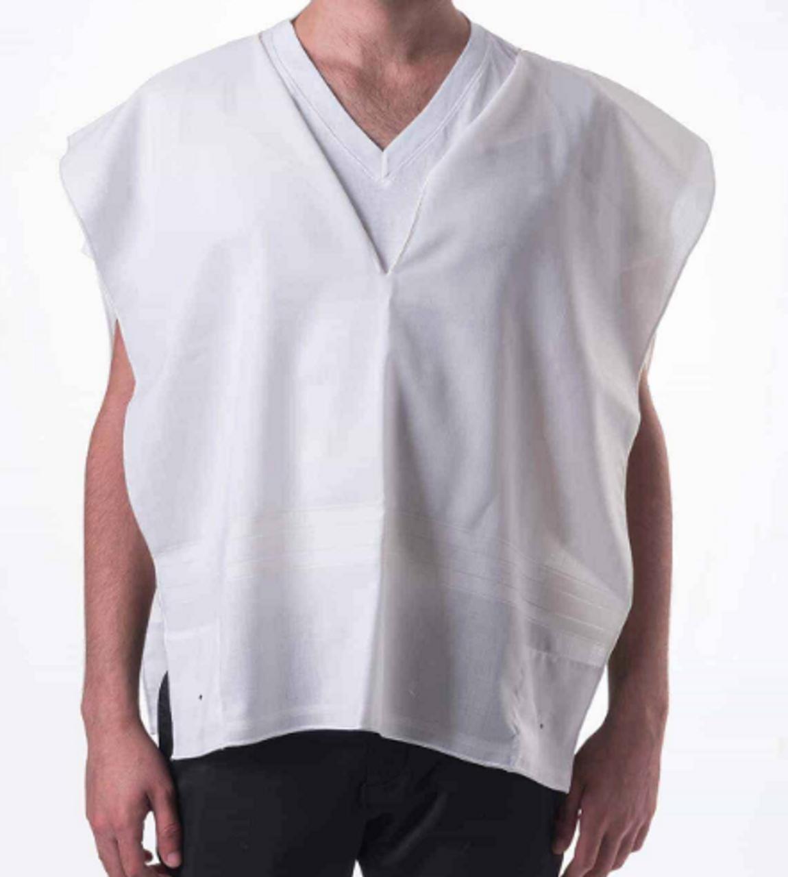 White-Striped Kalit Lightweight Wool Tallit Katan