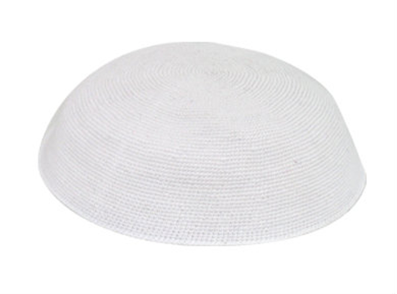 White DMC Knitted Kippah