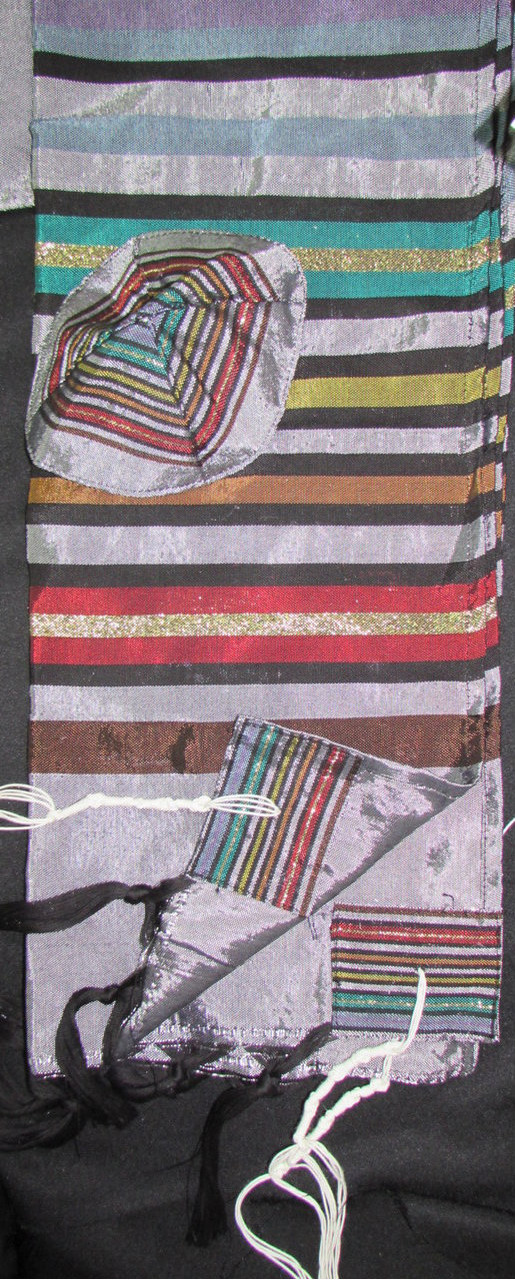 Gabrieli Joseph's Coat Gray Silk Tallit