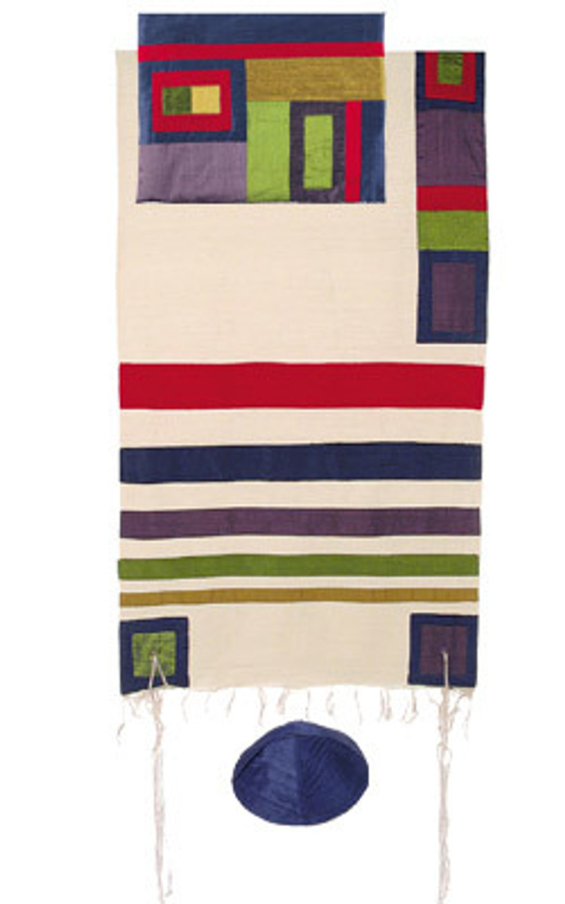 Spectrum Raw Silk Tallit Set