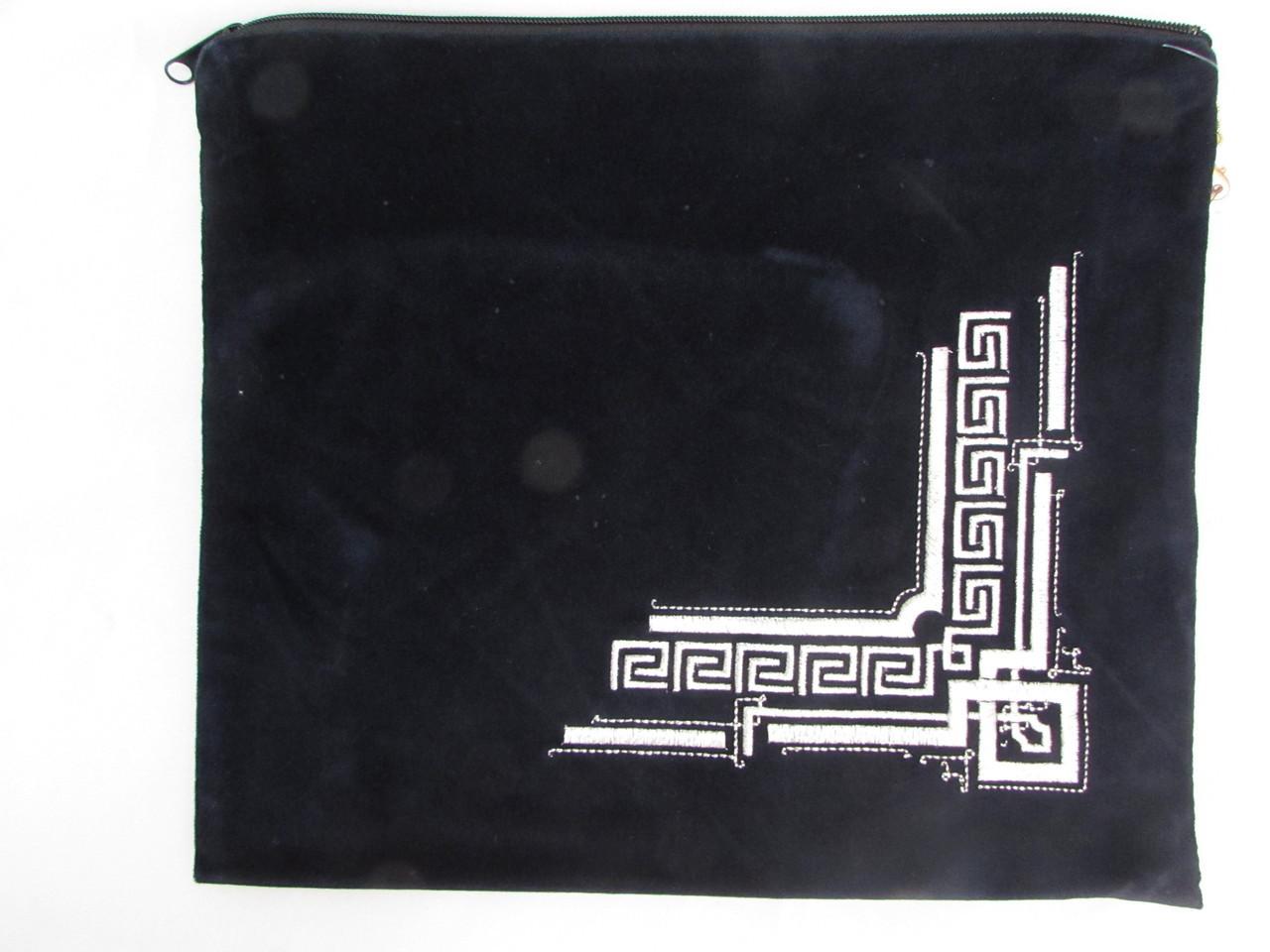 Velvet Silver Fleur-de-Lys Tallis Bag
