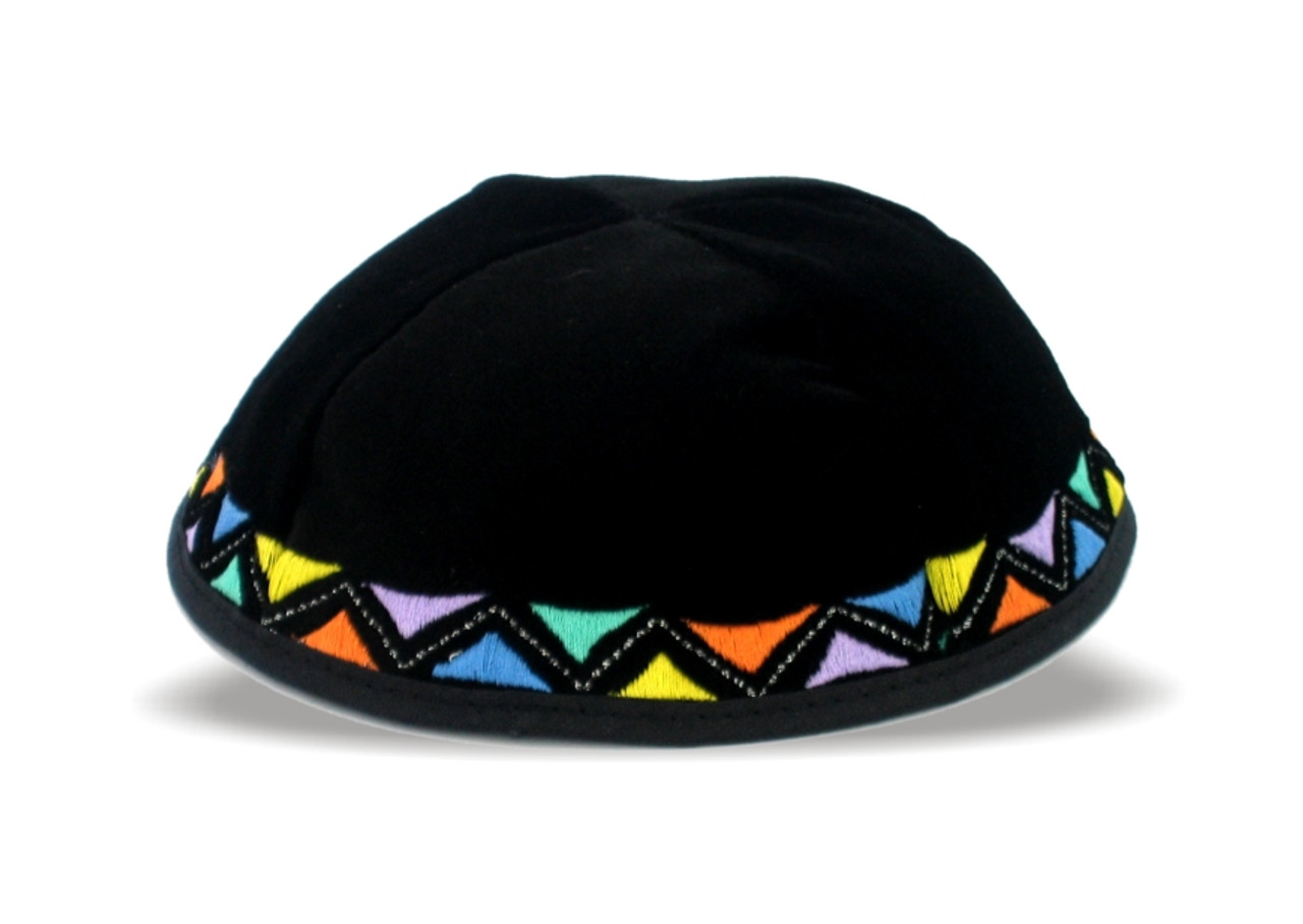 Boys Multicolor Triangle Kippah