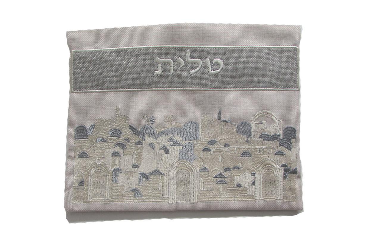 Linen Jerusalem of Old Tallit Bag