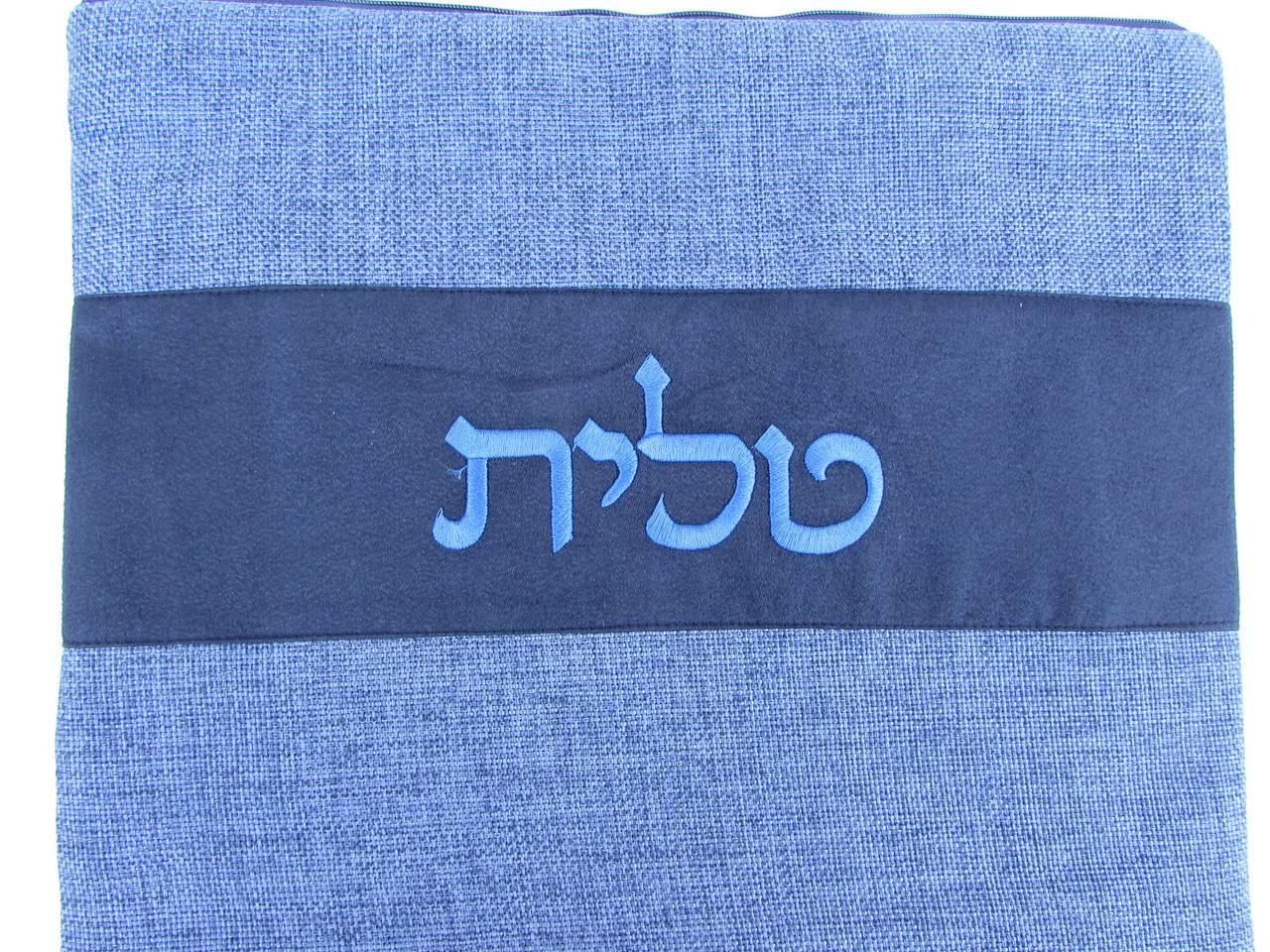Blue Linen Talit Bag