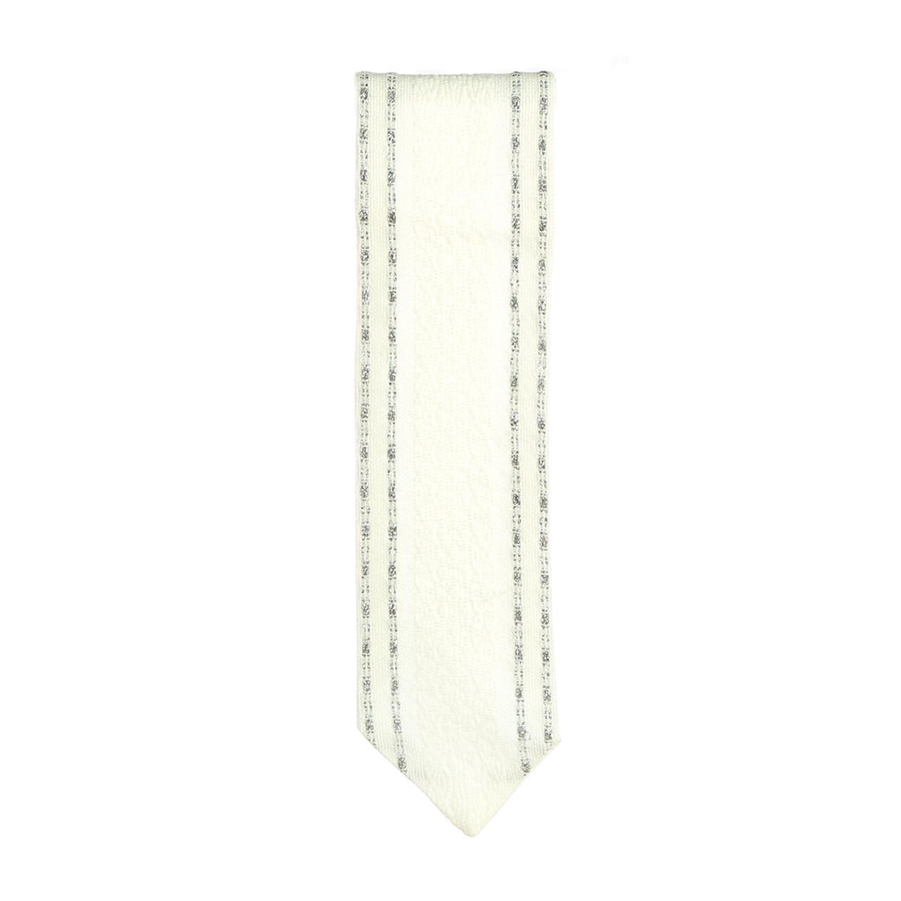 Handwoven White & Silver Atara