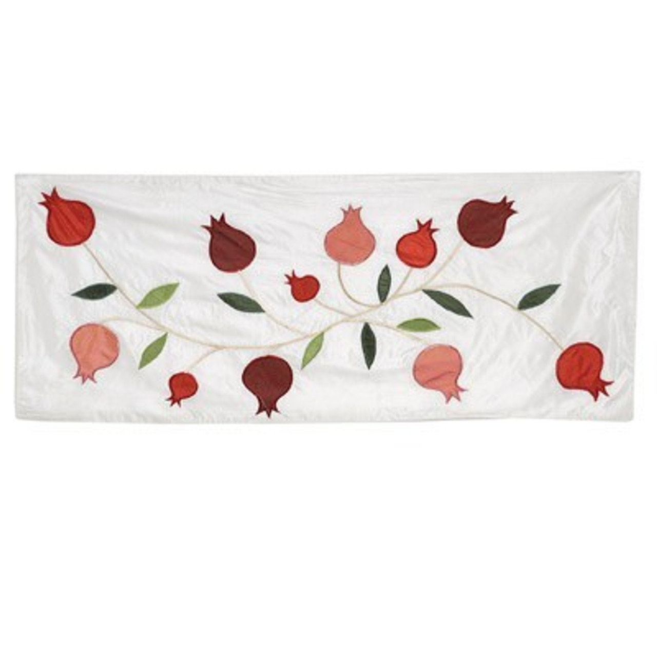 White Pomegranate Table Runner