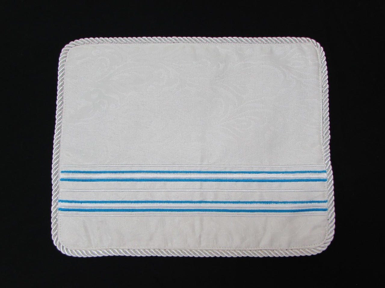 Turquoise on White Tallit Bag