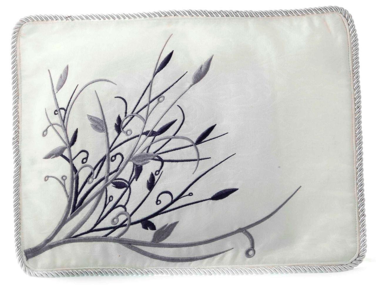 Silver on White Tallit Bag