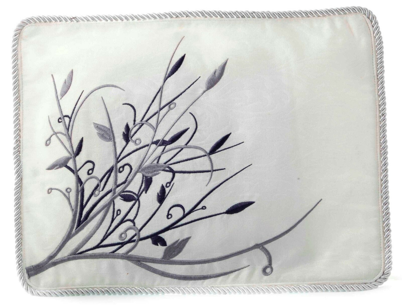Silver on White Tallit Bag