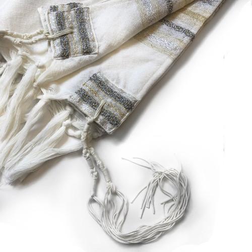 Gabrieli Premium - White with Gold & Silver