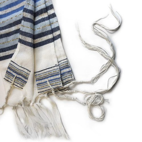 Gabrieli Premium - White with shades of Blue, Gold & Silver