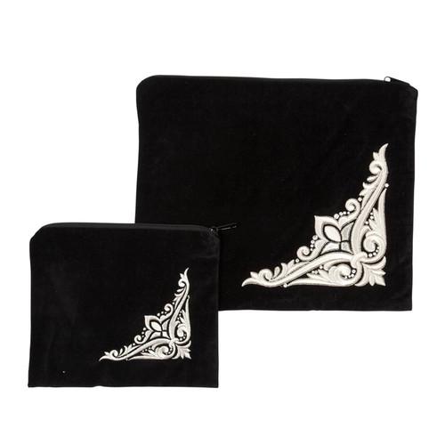Velvet Shushan Tallit Bag