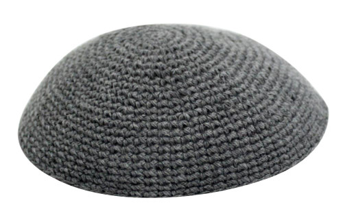 Grey Knitted Kippah