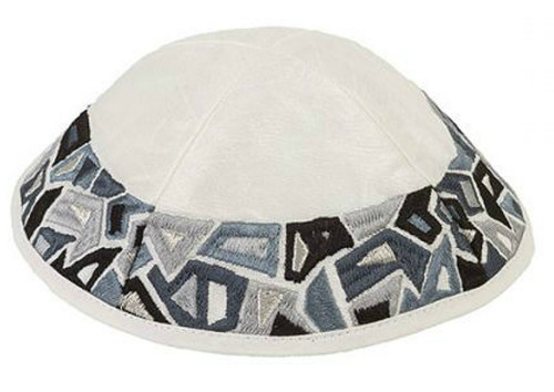 Black Geometric Shapes Kippah