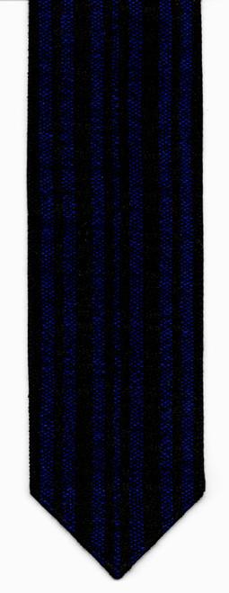 Wool Black and Royal Blue Handwoven Atara