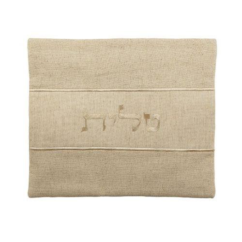 Sandy Beige Linen Tallit Bag
