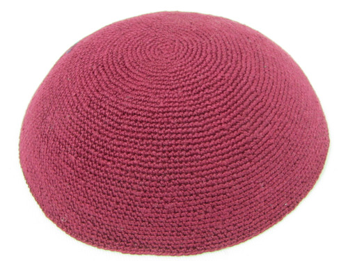 Solid Burgundy DMC Knitted Kippah