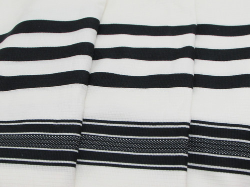 Black-Striped Traditional Cotton Tallit
